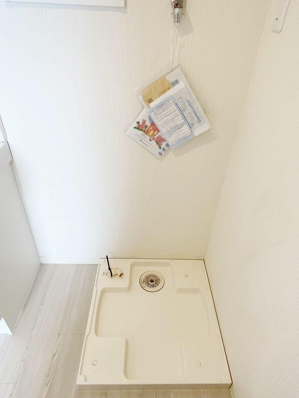豊島区千早の賃貸マンション オーレ池袋西102号室 脱衣所に室内洗濯機置き場あります