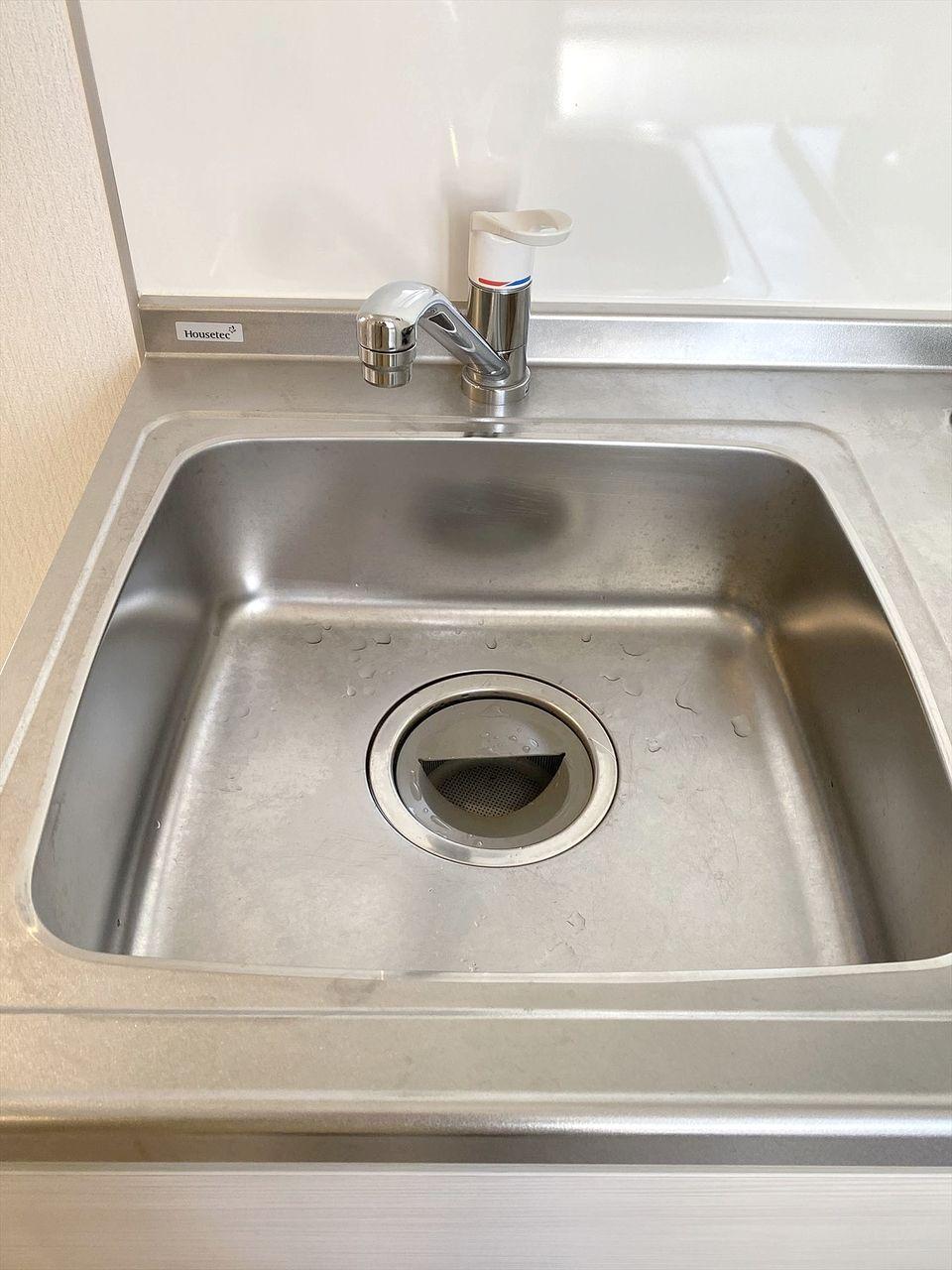 豊島区千早の賃貸マンション オーレ池袋西102号室 キッチンのシンク 綺麗です