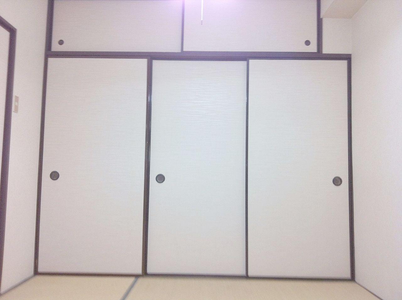 天袋付きの押入れでたくさん入り 部屋が広く使えます