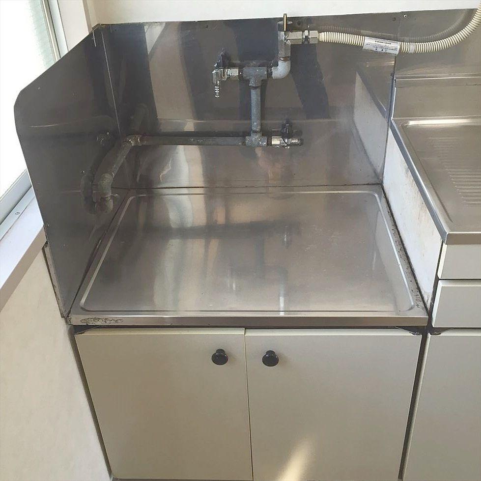 ガスコンロ2口設置可です 第1江原青木ハイム105号室のキッチン