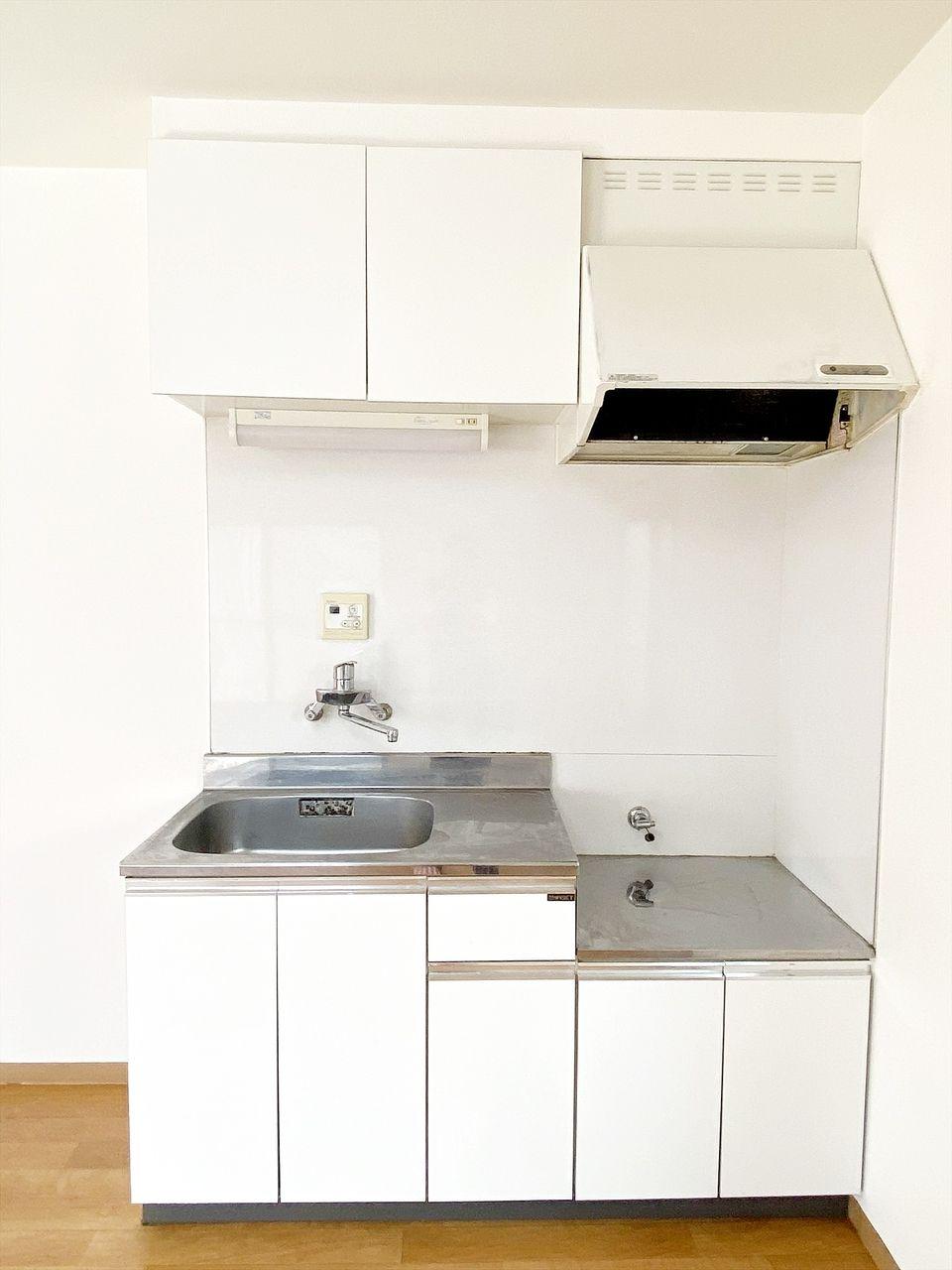 アゼリアハイツ池袋202号室のキッチン ガスコンロ2口設置可です