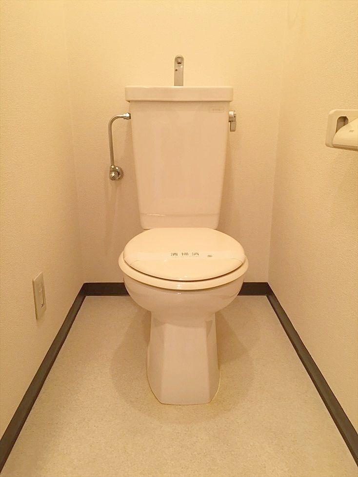 トイレです。ウォシュレット設置可能です。 池袋の賃貸マンション ヴェル・エアー