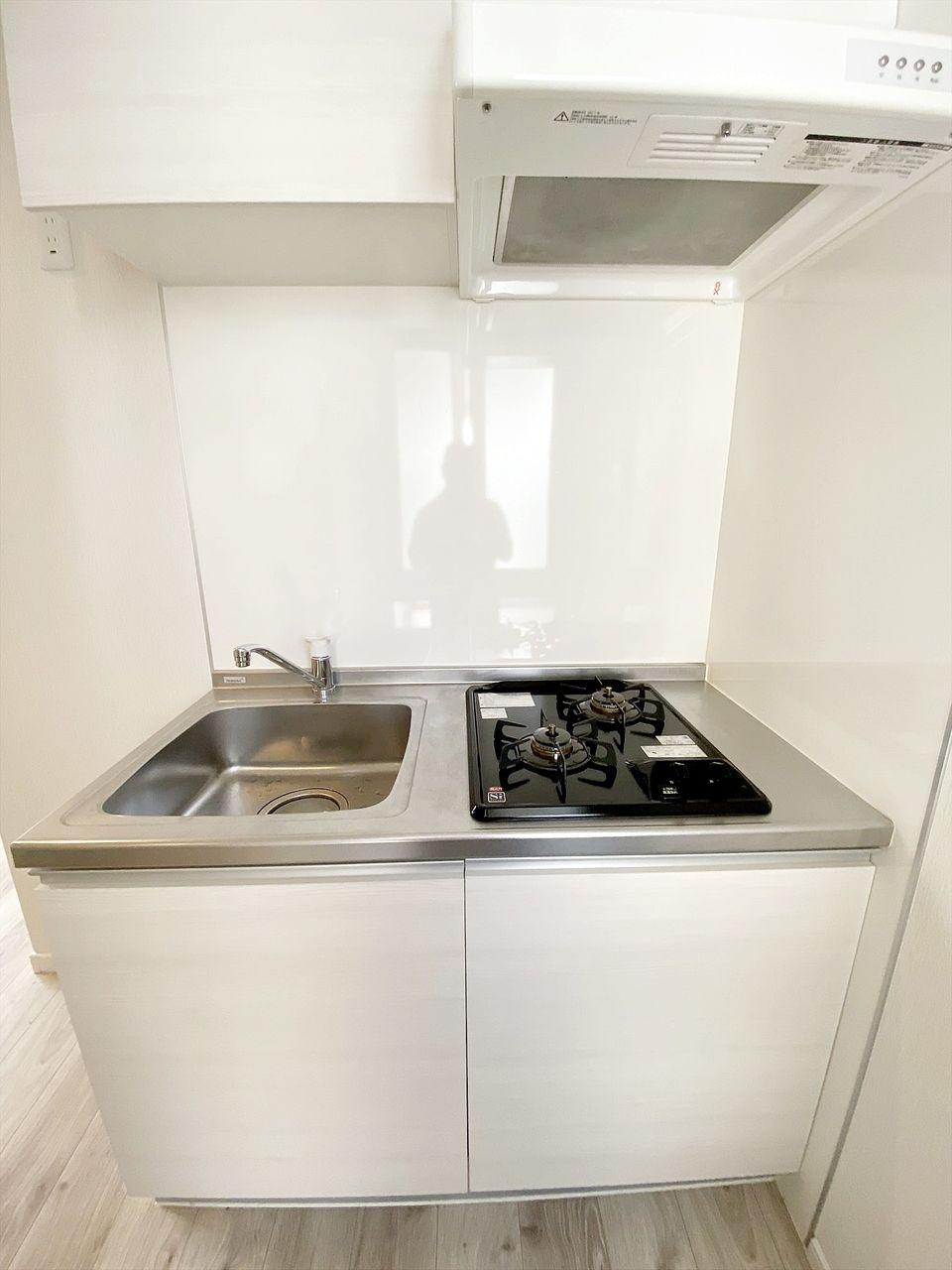 豊島区千早の賃貸マンション オーレ池袋西 キッチンはガスコンロ2口です