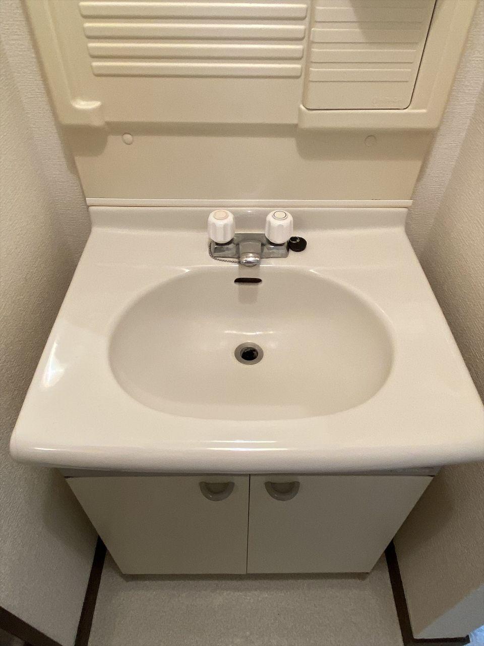 ベルパークは独立洗面台があり女性の方に好評です