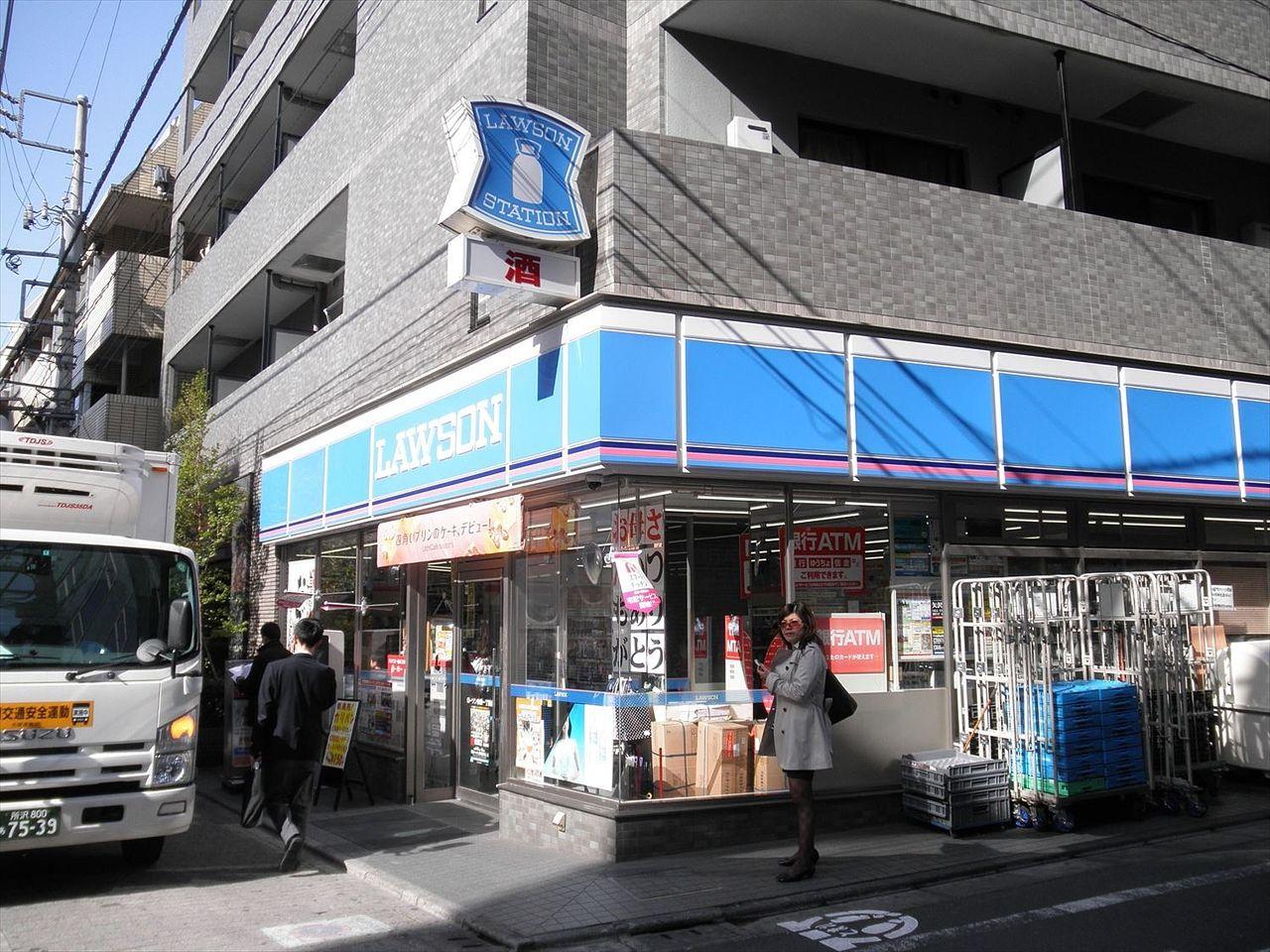 池袋駅からラ・パーチェ池袋への帰り道にあるローソン池袋1丁目店。小さいながらもいつも混んでいます