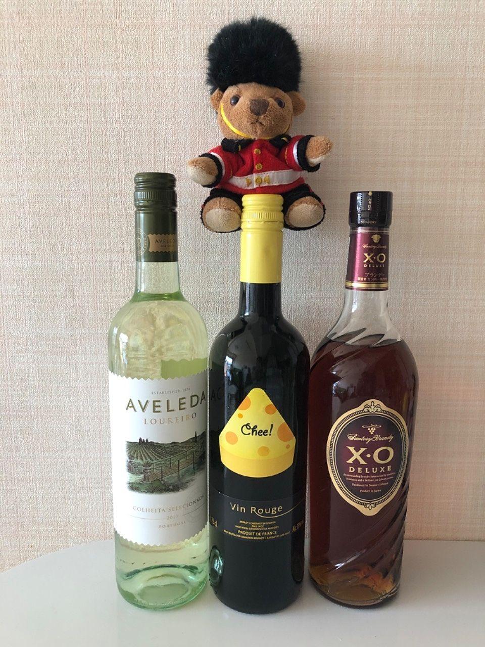 池袋の酒卸 折原さんのガレージセールでワインとブランデーを買いました。